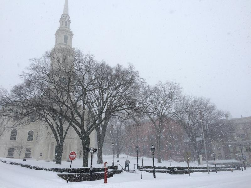 Providence has received 11 inches of snow as of Tuesday morning