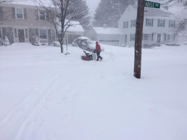 Rumford resident braves the storm Tuesday morning