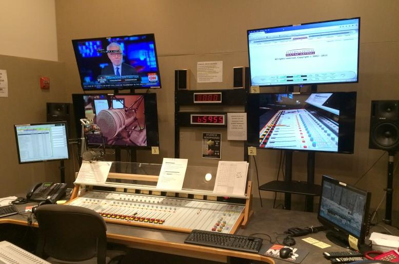 Multiple TV's in Studio A at RIPR