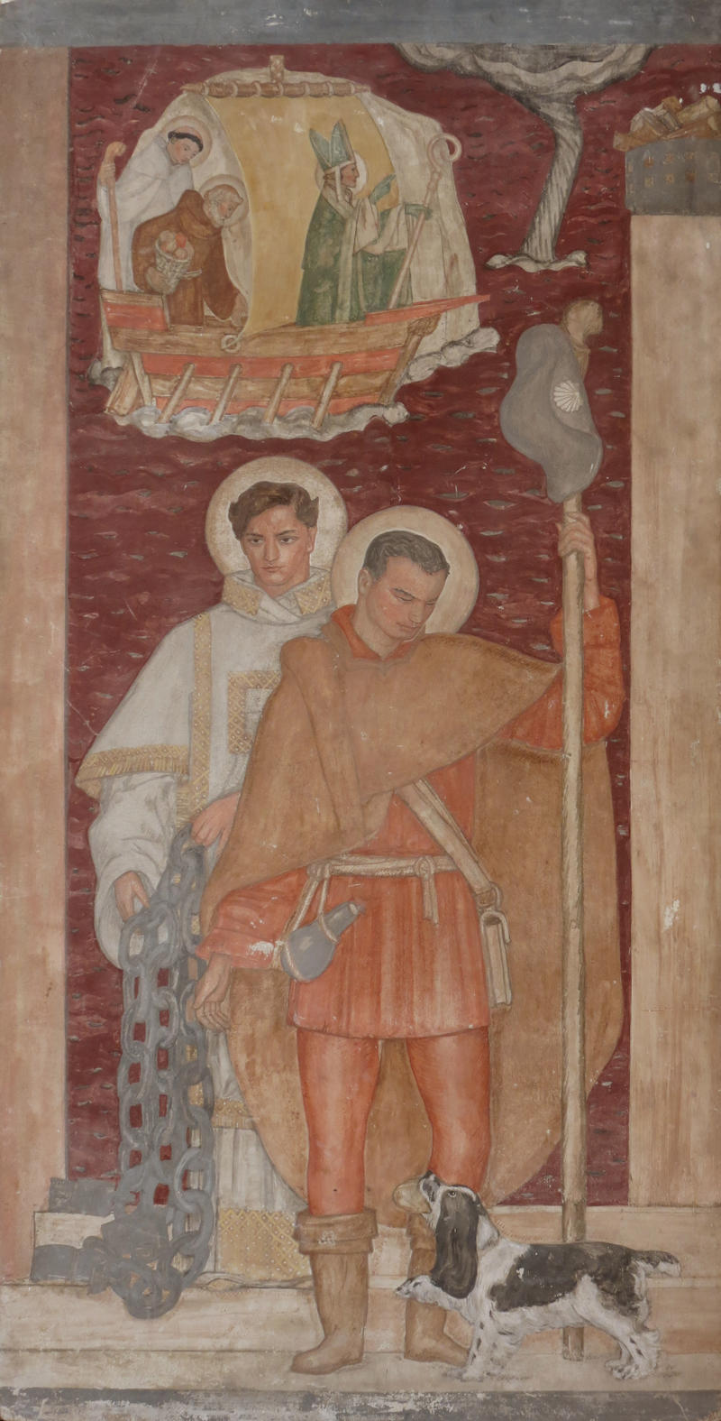 Saint Leonard and Saint Roch, 1930-1932  (Study for Memorial Chapel of Seamen's Church Institute)