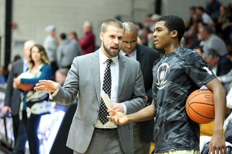 Chris Burns played college basketball at Providence College and Bryant University before returning to Bryant as a coach.