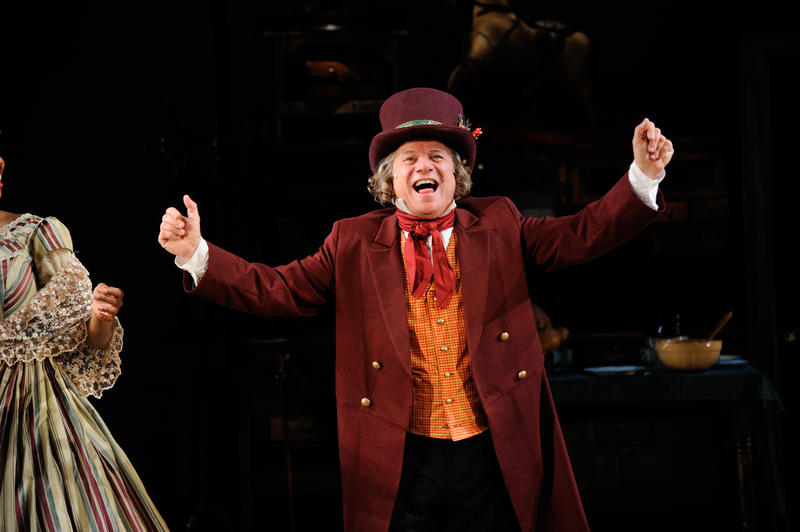 Stephen Berenson as Ebenezer Scrooge in Charles Dickens' A Christmas Carol at Trinity Rep