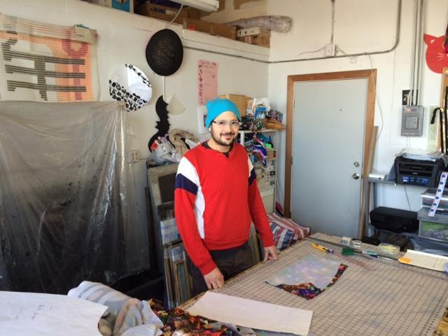 Joseph Aaron Segal in his Providence workshop.