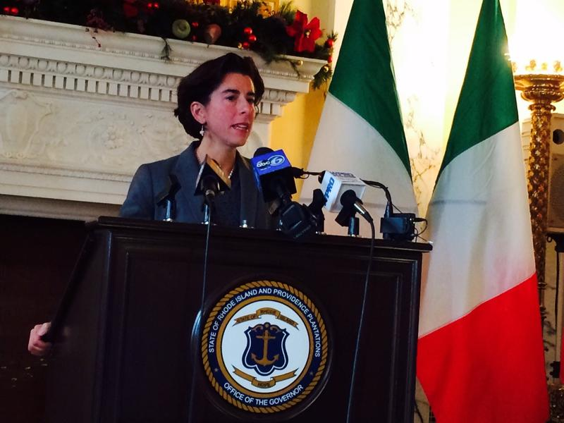 Gov. Gina Raimondo wants state offices to run 100 percent on renewable energy by 2025, according to goals outlined by in a new executive order.