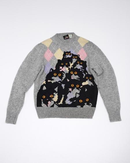 Segal's cat sweater.