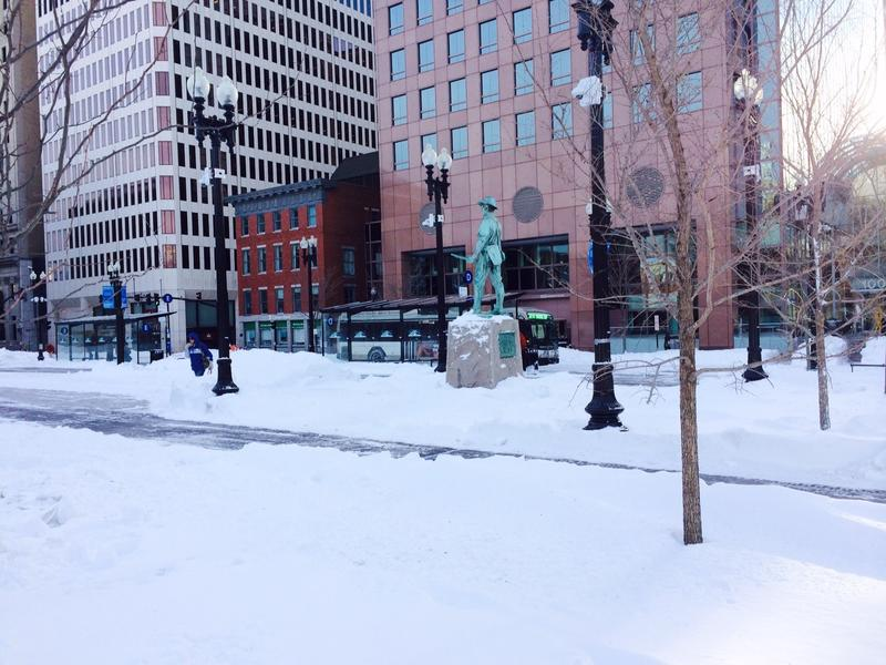 Don't expect any snowy scence in downtown Providence before the holidays,
