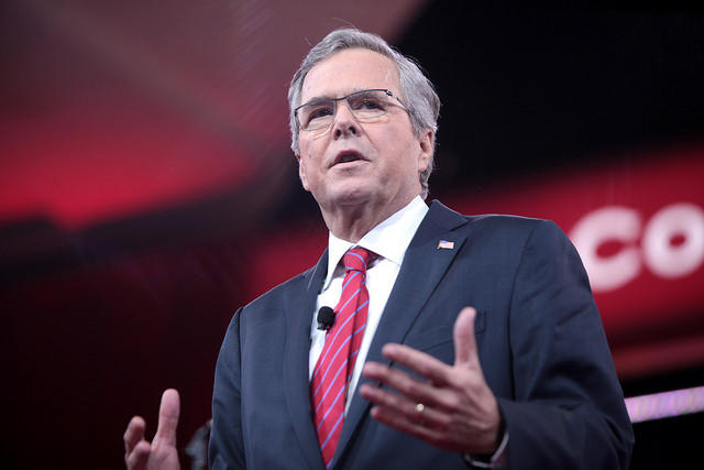 Jeb Bush  speaking at the 2015 Conservative Political Action Conference