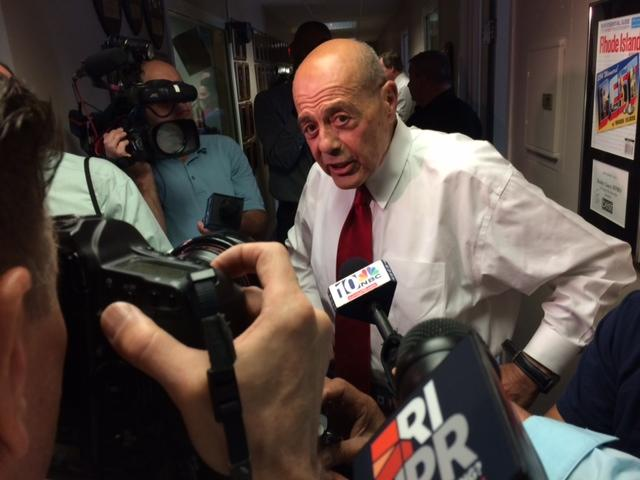 Buddy Cianci at the announcement of his candidacy for Providence mayor in 2014.