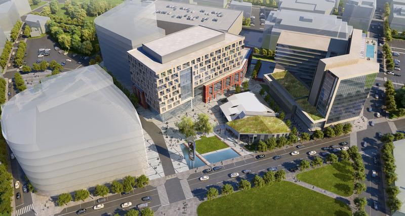An artist rendering of the proposed Wexford life sciences complex.