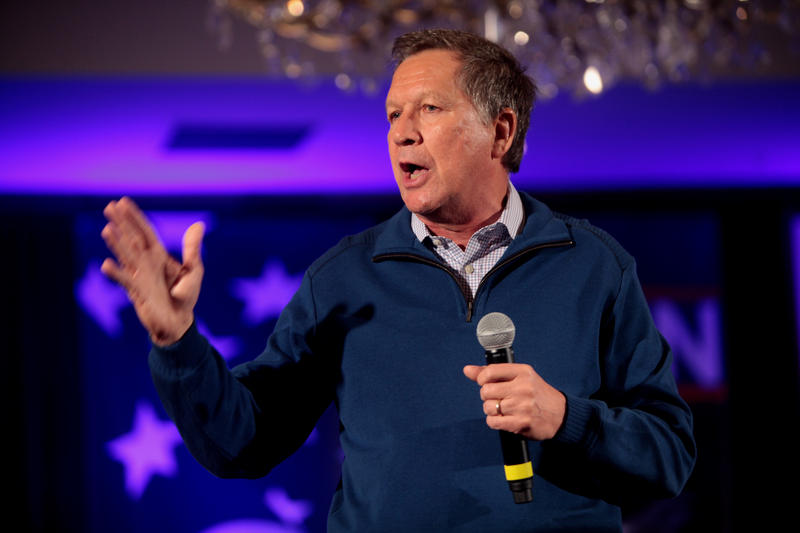 Ohio Governor John Kasich at a New Hampshire town hall event