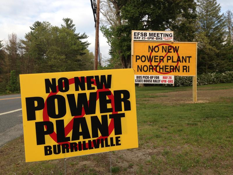 Signs posted throughout Burrillville opposing the proposed Invenergy power plant.