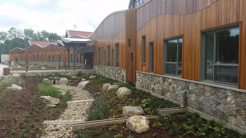 The newly constructed Sandy Hook Elementary School in Newtown CT
