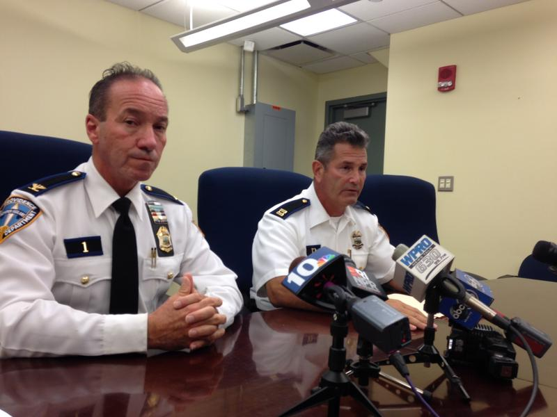 Providence Police Cheif Hugh Clements and Police Captain Dean Isabella discuss plans to equip officers with body cameras.