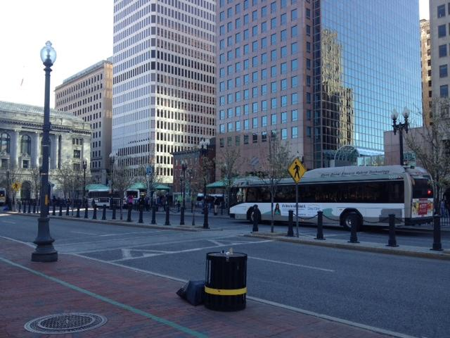 Kennedy Plaza in downtown Providence