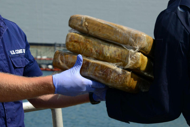 Marijuana seized by the U.S. Coast Guard in San Diego in May 2014.