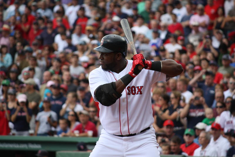 David Ortiz at bat against Tampa Bay at Fenway in 2009.