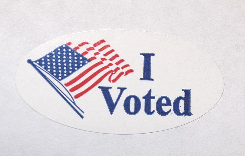 'I Voted' sticker