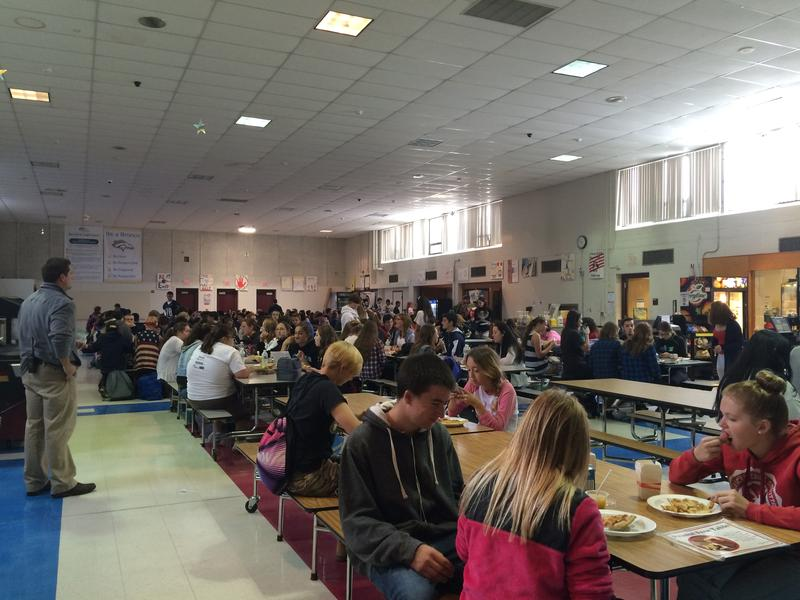 The cafeteria at Burrillville High School