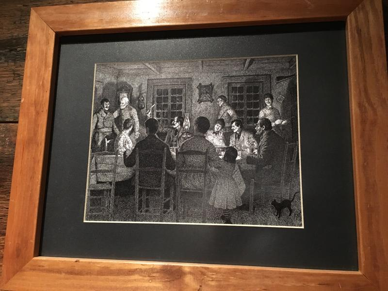 Image of a traditional French-Canadian Réveillion, or Christmas Eve dinner, at the Museum of Work and Culture