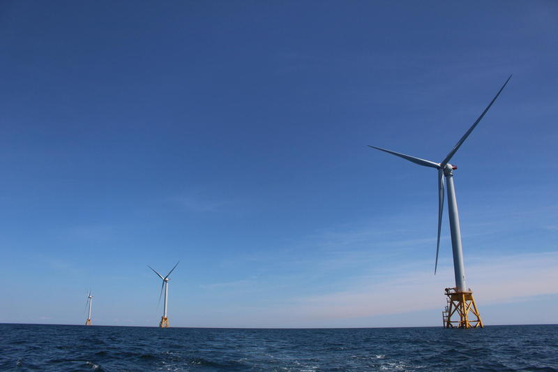 Turbines off the coast of Block Island
