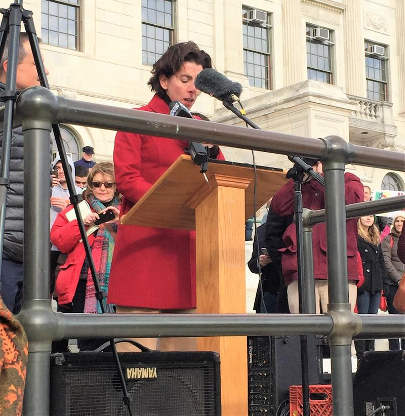 Governor Raimondo speaks