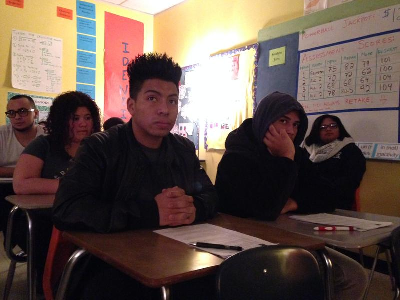 Students listen as trainers explain Martin Luther King Jr.'s 6 principles of nonviolence