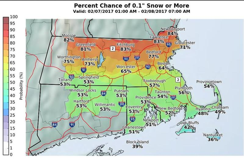 National Weather Service snow prediction.