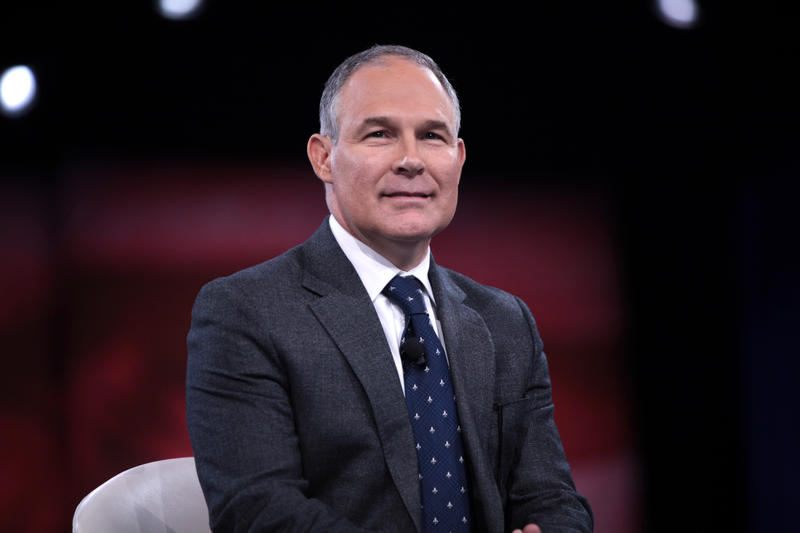 Attorney General Scott Pruitt of Oklahoma speaking at the 2016 Conservative Political Action Conference (CPAC) in National Harbor, Maryland.