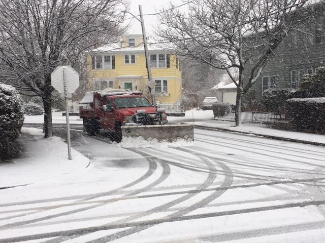 Heavy snow in Hope neighborhood, Providence.