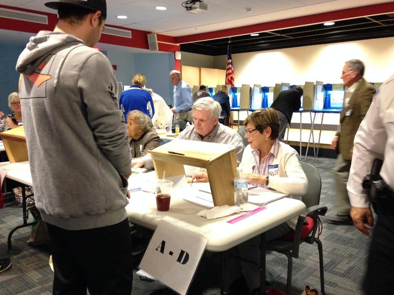 Voters at a polling place in Newport, Rhode Island.