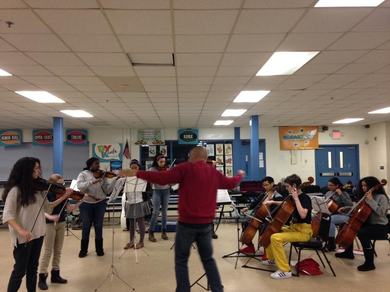 Phase 2 students practice for their upcoming concert