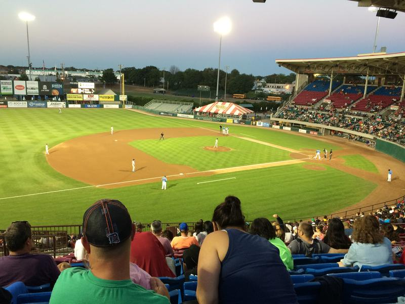 McCoy Stadium night game.