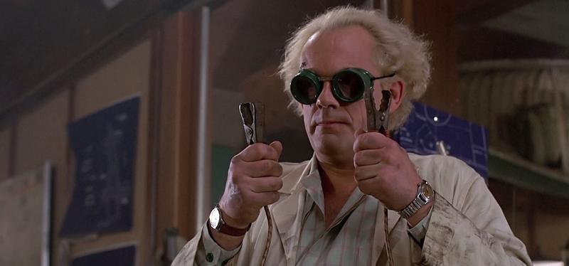 "Christopher Lloyd as ""Doc Brown"" in Back to the Future"