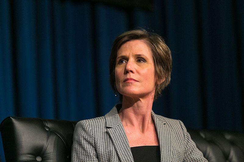 Former acting Attorney General Sally Yates is one of the people expected to testify Monday.