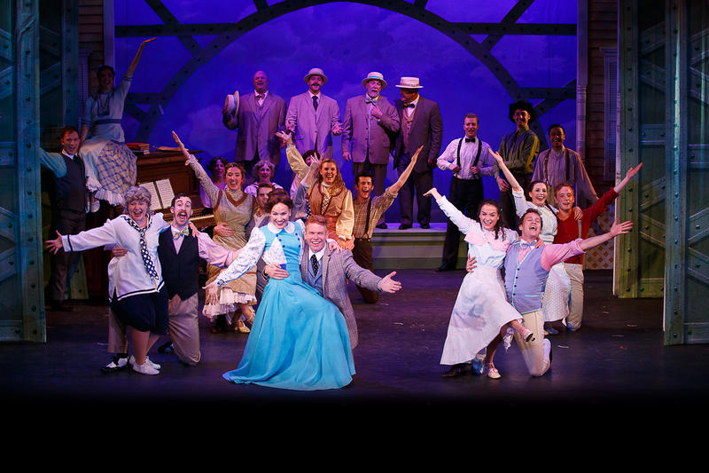 Tiffan Borelli (Marian Paroo), Jason Ostrowski (Harold Hill) and the cast of THE MUSIC MAN at Theatre By The Sea from June 21 - July 15.