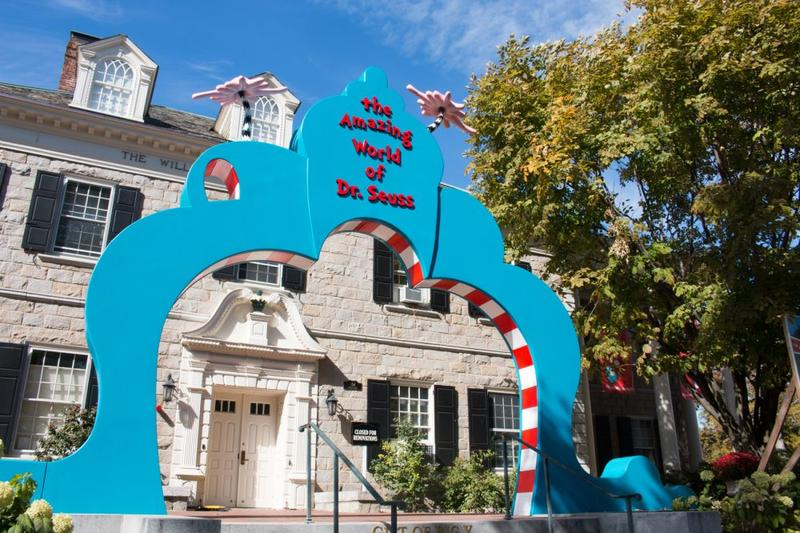 The entrance to Springfield's new Dr. Seuss museum.
