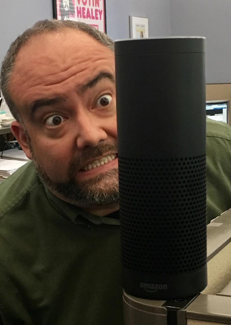 Our Intrepid Engineer is a little intimidated by Alexa