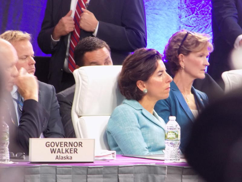 Gov. Gina Raimondo during the NGA summer meeting.
