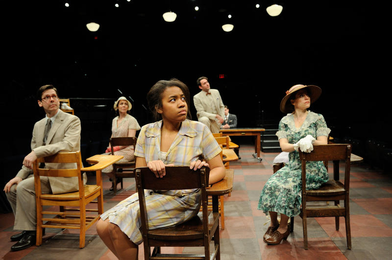 A recent production of To Kill A Mockingbird featured adult actors portraying the children's parts at Trinity Rep