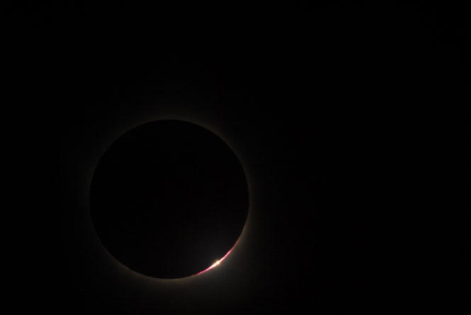 A 2009 solar eclipse, as seen from the Hinode satellite