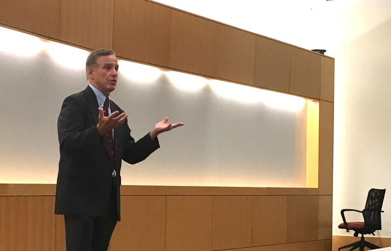 Howard Dean delivered a lecture to medical students Wednesday at Brown University