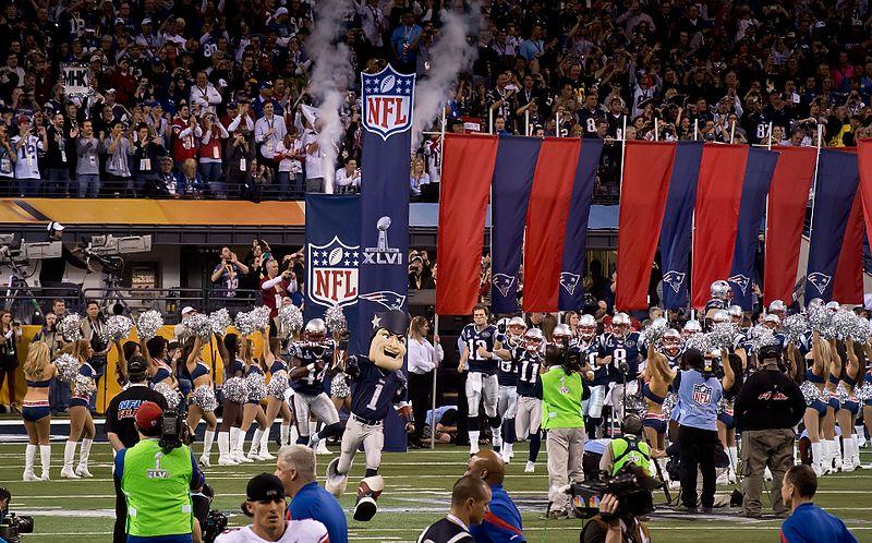New England Patriots grand entrance Super Bowl XVLI