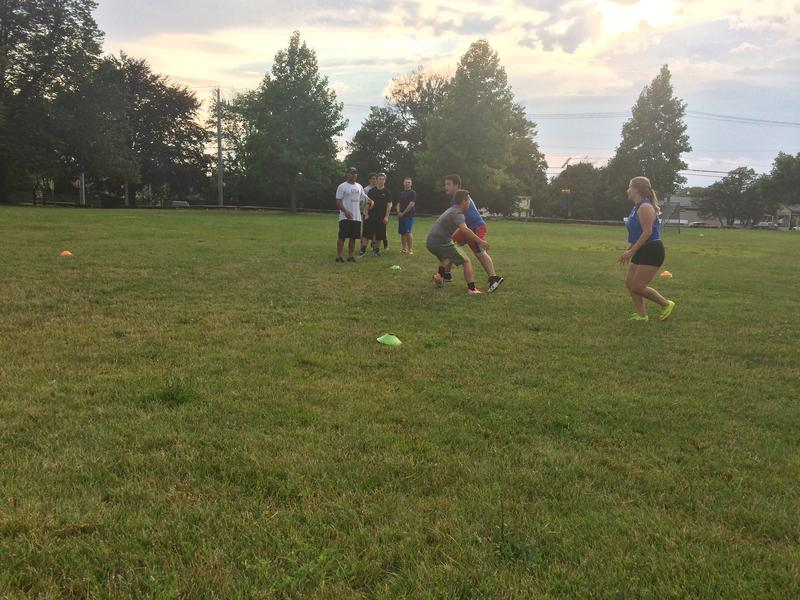 Newport County Youth Rugby Football Club practice in Middletown.