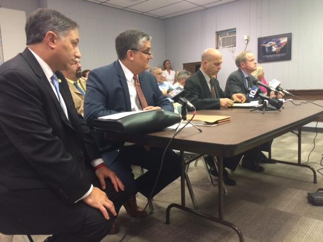 Bell (left) during a hearing involving former state Rep. John Carnevale