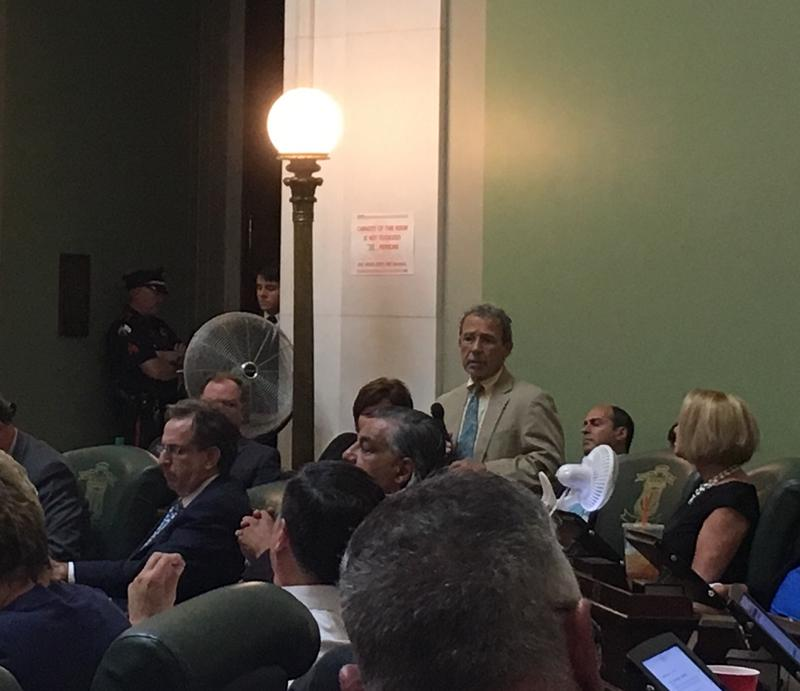 Chairman Conley speaking in the Senate earlier this year.