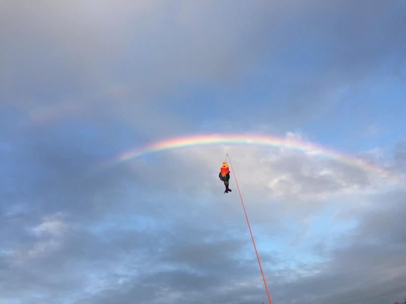 Beginning of Sunday's double rainbow