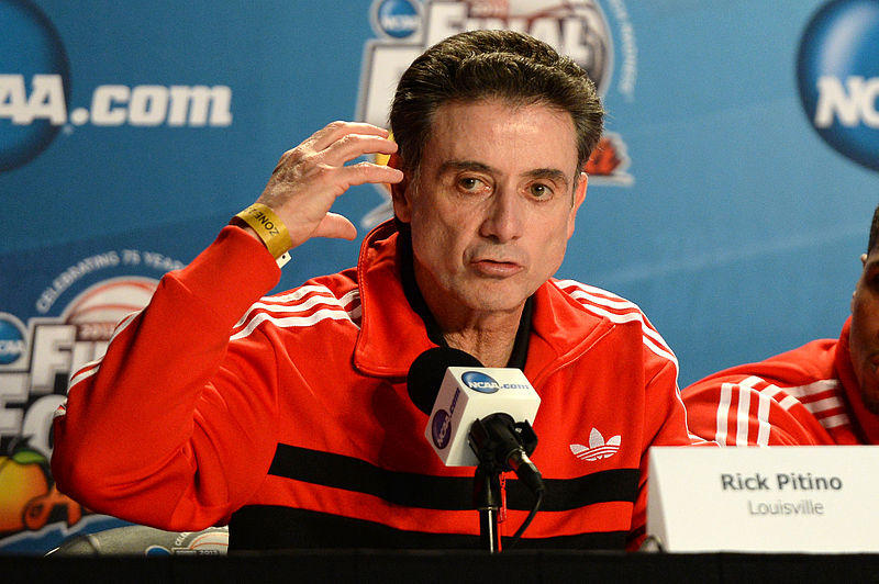 Rick Pitino, former head coach of the Louisville Cardinal men's basketball team.