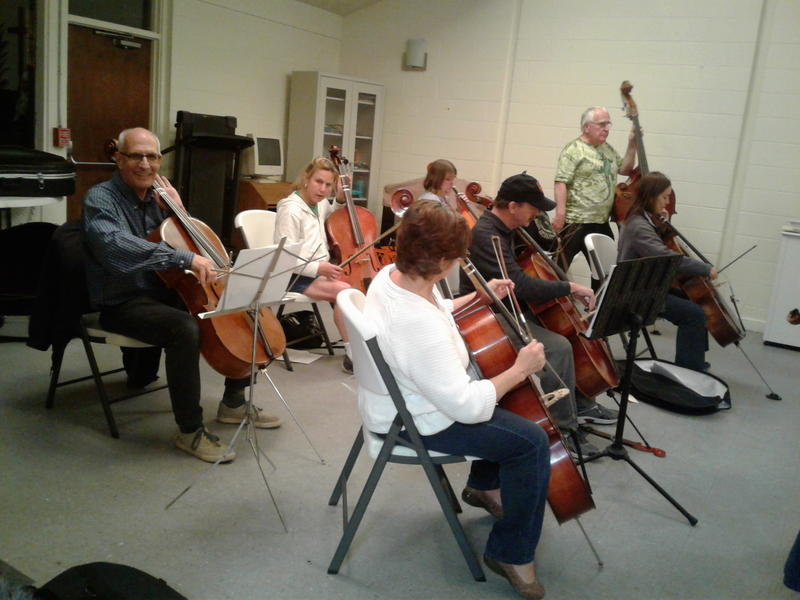 Adult beginners, including RIPR's Chuck Hinman, on their first day of class.