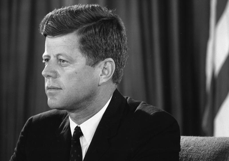 President John F. Kennedy addressing the nation from the Oval Office during the Berlin Crisis on July 25th, 1961.