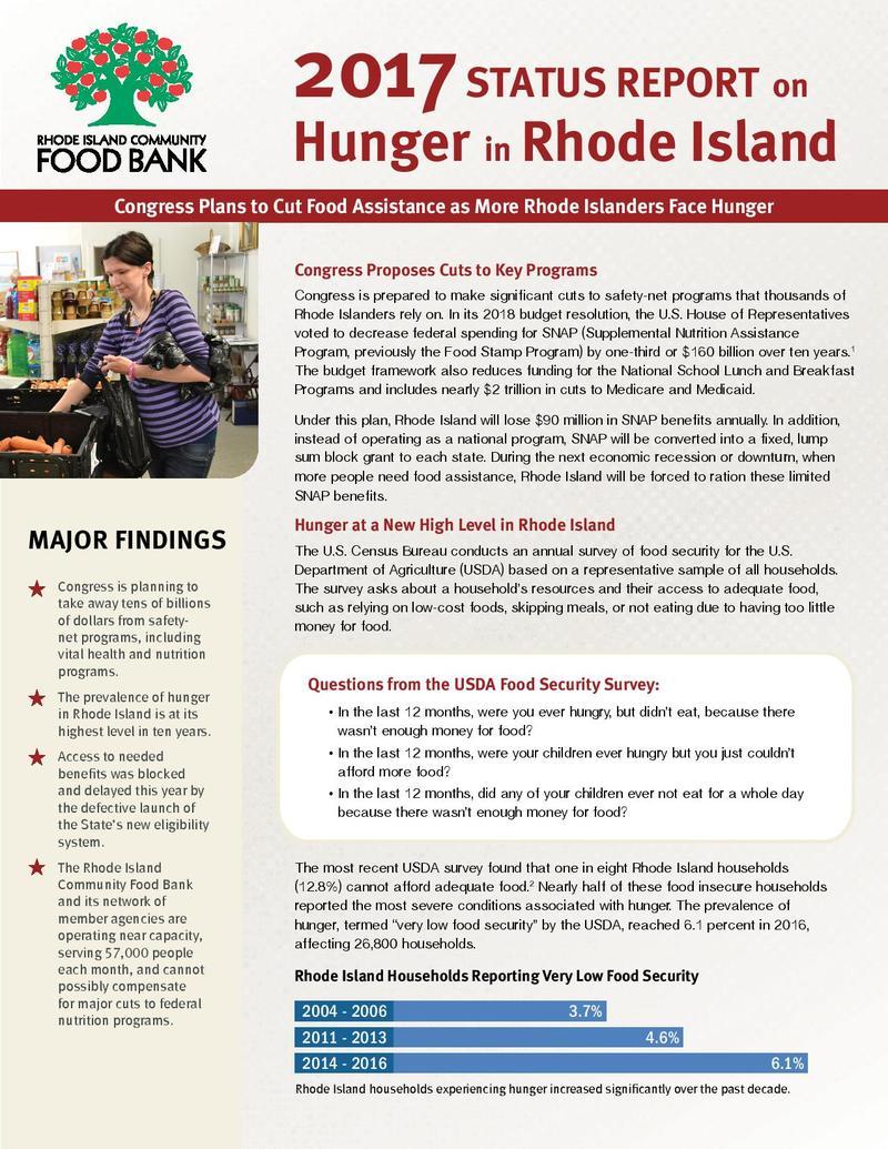 Rhode Island Food Bank Donations